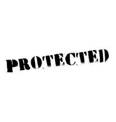 Protected black stamp vector