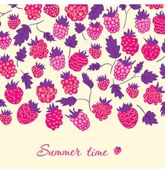 Raspberry card vector image