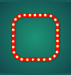 red light square corners frame vector image