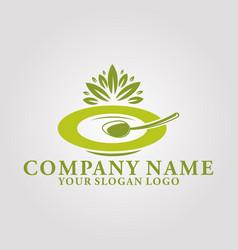 restaurant leaf logo 2 vector image
