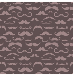 Retro hipster moustache seamless pattern vector