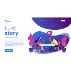 romantic date concept landing page vector image