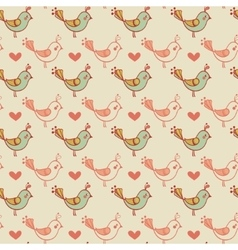 Romantic seamless pattern in cartoon style vector image