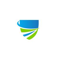 Shield protect defense technology logo vector