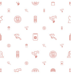 signal icons pattern seamless white background vector image
