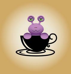 Snail logo coffee vector