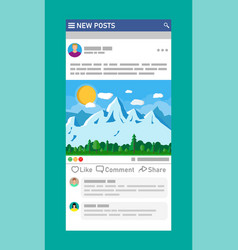 social network interface template vector image