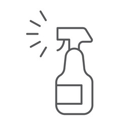 Sprayer thin line icon aerosol and clean bottle vector
