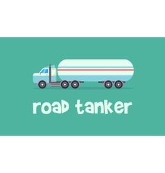 Transportation of road tanker vector