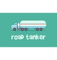 Transportation of road tanker vector image