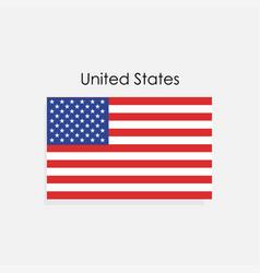 united states america flag vector image