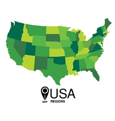 united states map states vector image