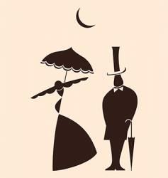 Victorian love vector