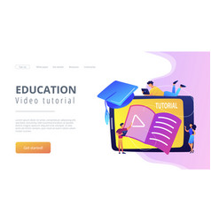 video tutorial concept vector image