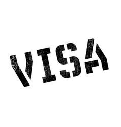 Visa rubber stamp vector