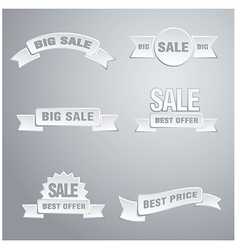 white sale tags vector image
