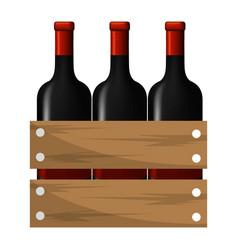 Wine bottles design vector