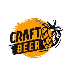 craft beer poster vector image
