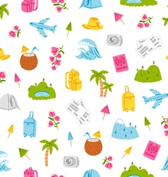 Go on and travel pattern vector image vector image