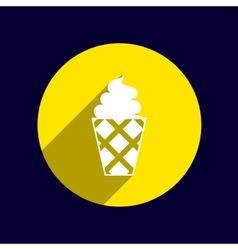 Ice cream logo icon frozen food vector image