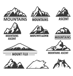 Mountain peaks emblems - alpinism and ascent vector image vector image