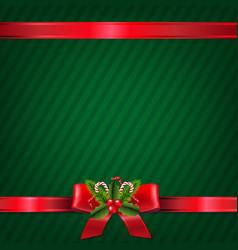 vintage green christmas wallpaper vector image vector image