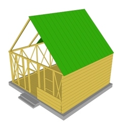 Ecology green house vector image