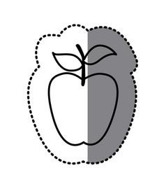 figure long apple fruit icon vector image