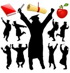 graduation set vector image vector image
