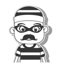 icon man criminal thief stealing isolated vector image