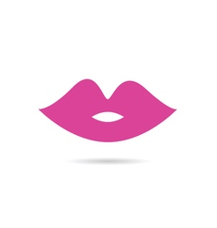lips pink color vector image vector image