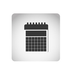monochrome square frame with silhouette calendar vector image vector image