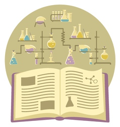 Textbook on Chemistry vector image vector image