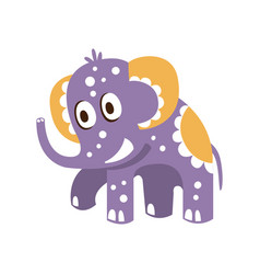 Adorable cartoon baby elephant character posing vector