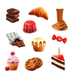 Confectionery set 3 vector image vector image