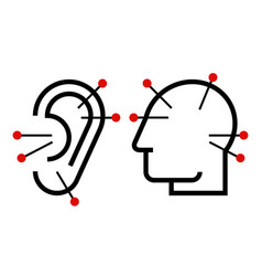ear and head acupuncture vector image