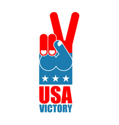 finger victory usa america win hand symbol of usa vector image