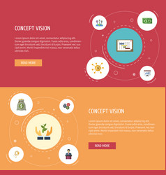 flat icons financing help coin and other vector image vector image