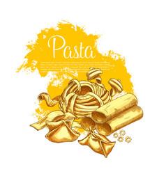 pasta poster for italian restaurant vector image
