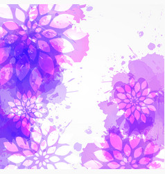 purple watercolored background with abstract vector image vector image
