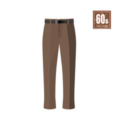 retro trousers in realistic style vector image vector image