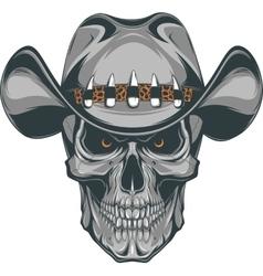 Skull cowboy vector image vector image