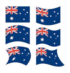 Flag of Australia Set of flags in different forms vector image