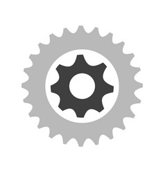 gear wheel icon vector image