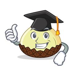 Graduation snake fruit character cartoon vector