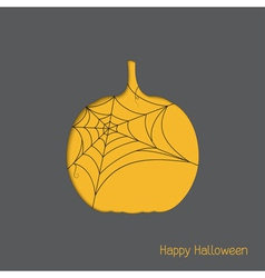 Halloween pumpkin with spider web vector image