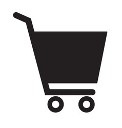 shopping cart icon on white background flat style vector image vector image