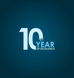 10 year excellence template design vector