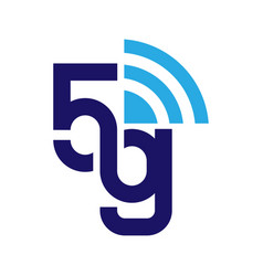 5g network logo logo network 5g connection eps vector image