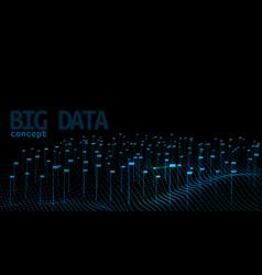 Abstract lines and dots digital big data vector